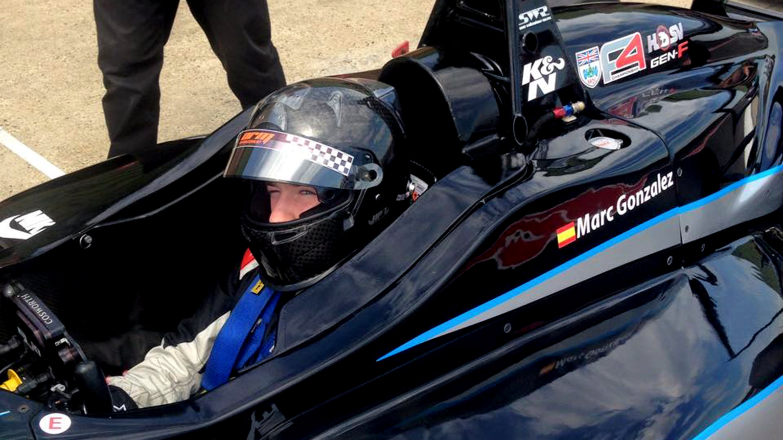 SWR is hoping to retain Marc Gonzalez into the second half of the BRDC Formula 4 season.