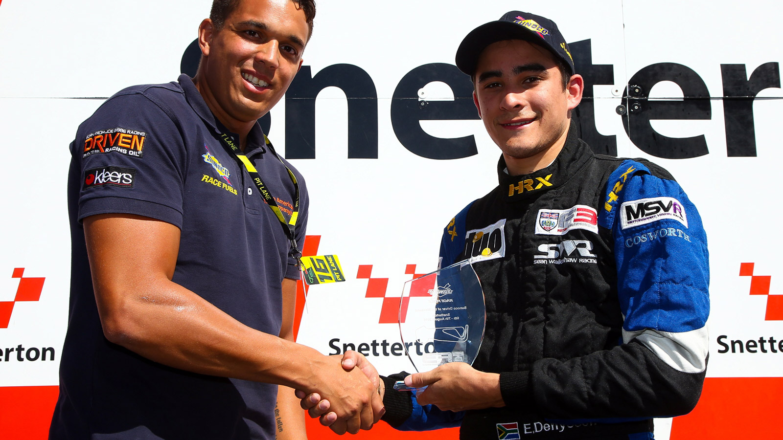Eugene Denyssen was awarded the 'Sunoco Driver of the Weekend' accolade.