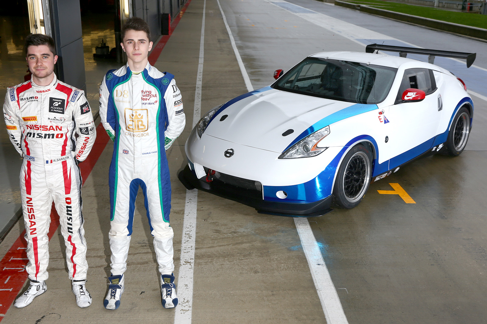 Charlie Fagg and Romain Sarazin team-up for first time at Silverstone GP.