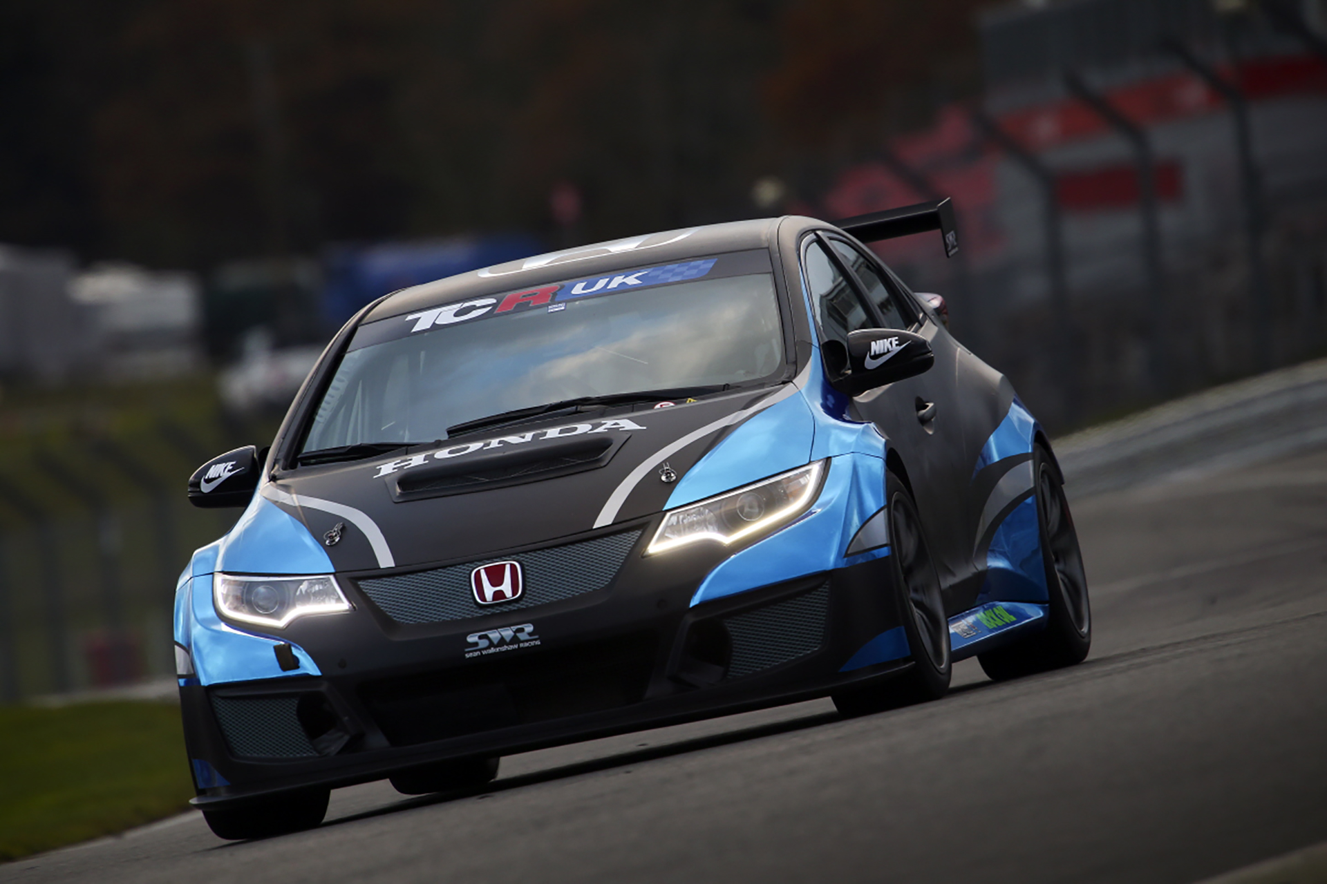 SWR Honda makes first appearance with eye-catching chrome livery.